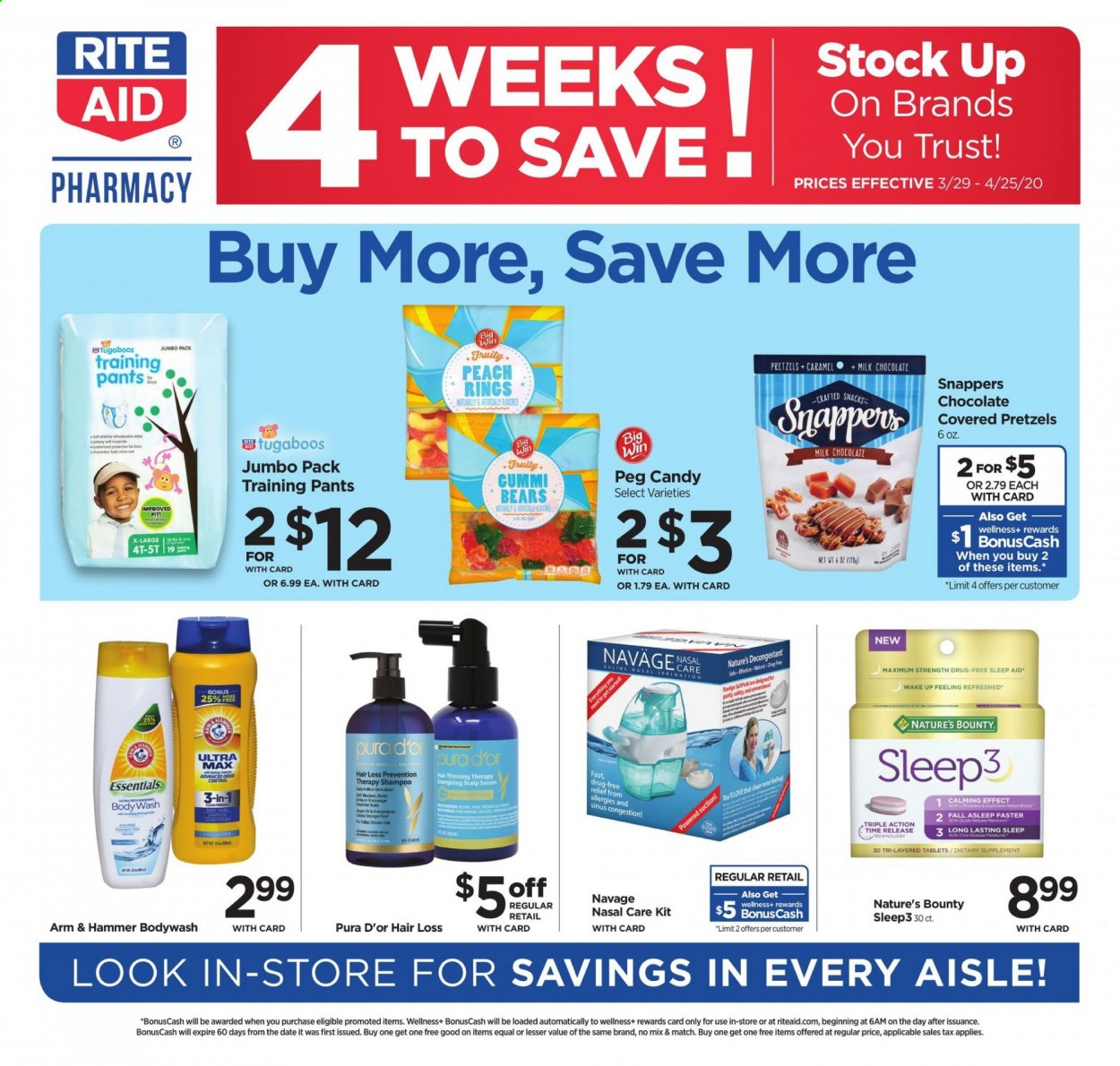 RITE AID Flyer  - 03.29.2020 - 04.25.2020. Page 1.