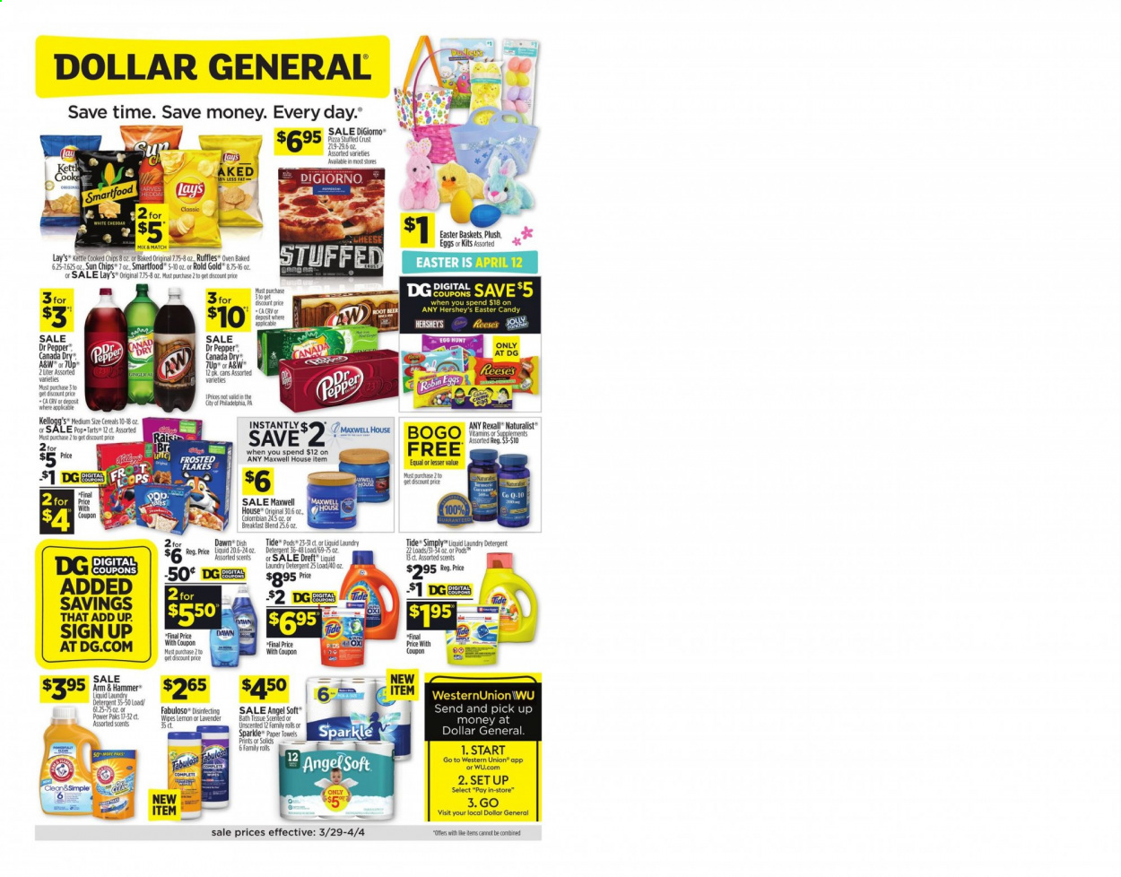 Dollar General Flyer  - 03.29.2020 - 04.04.2020. Page 1.