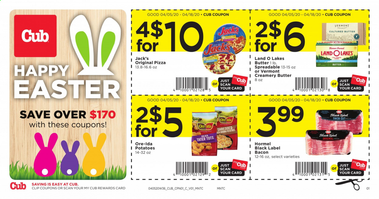 Cub Foods Flyer  - 04.05.2020 - 04.18.2020. Page 1.