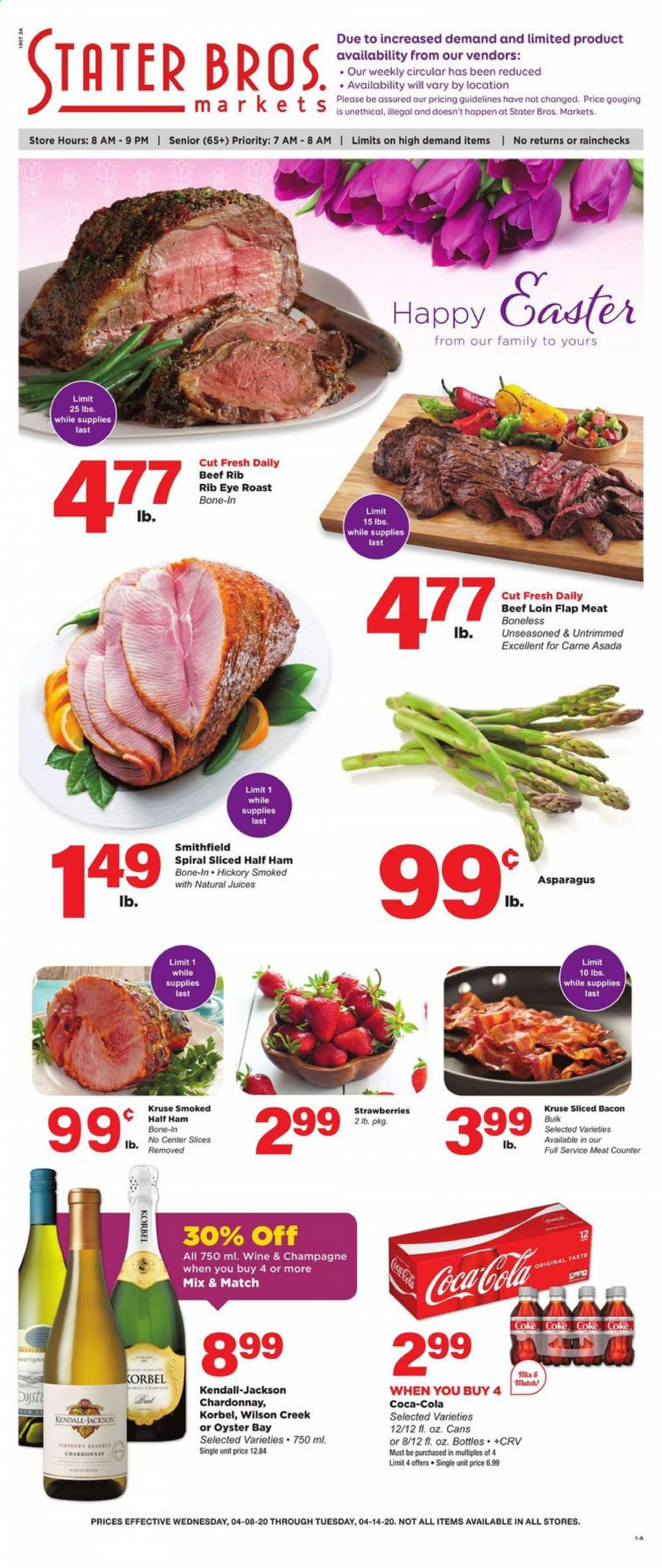 Stater Bros. Flyer  - 04.08.2020 - 04.14.2020. Page 1.