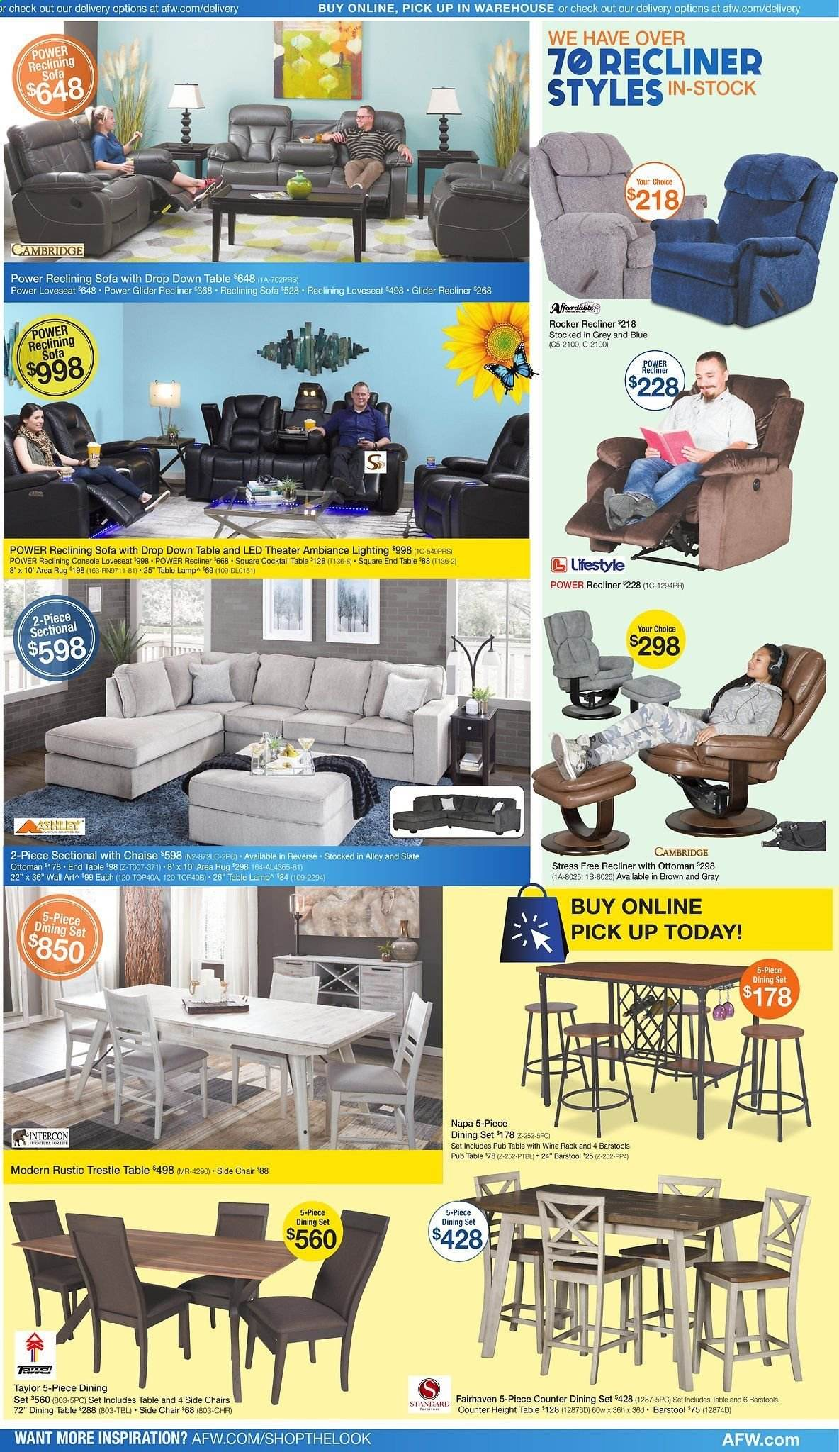 American Furniture Warehouse Flyer 04 12 2020 04 18 2020 Page 3 Weekly Ads