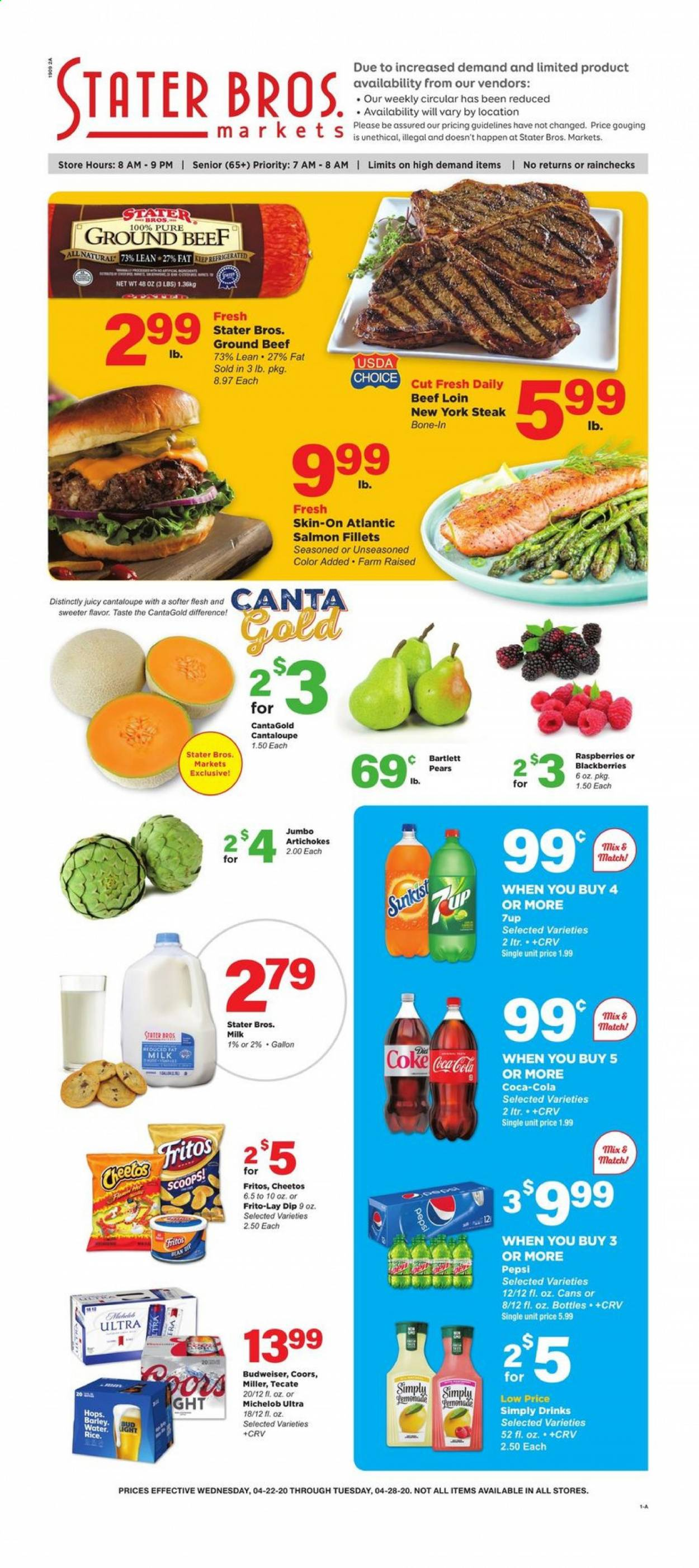Stater Bros. Flyer  - 04.22.2020 - 04.28.2020. Page 1.