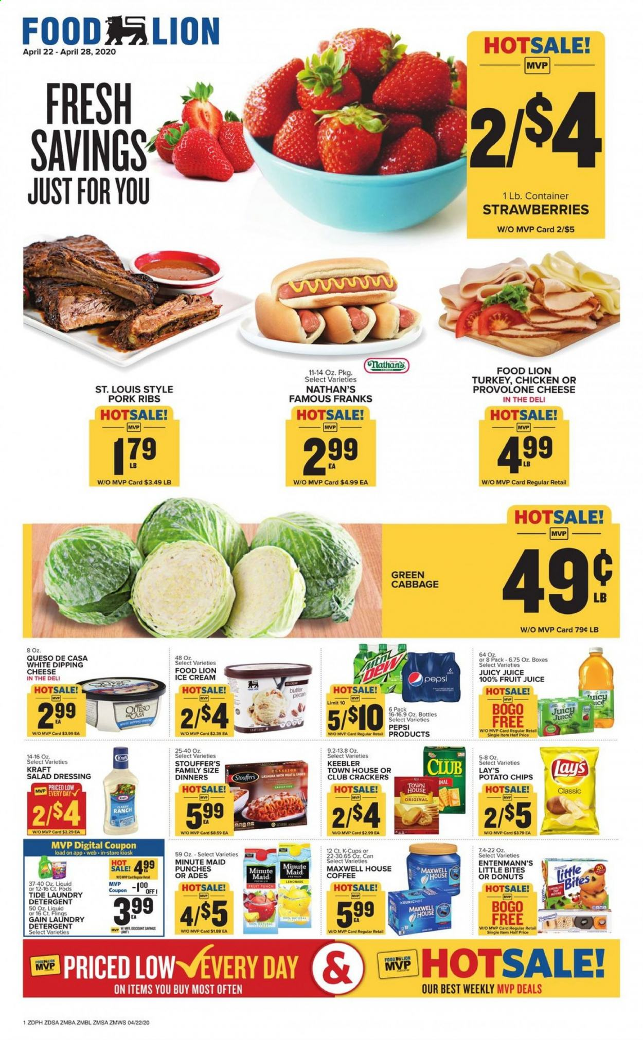 Food Lion Flyer  - 04.22.2020 - 04.28.2020. Page 1.
