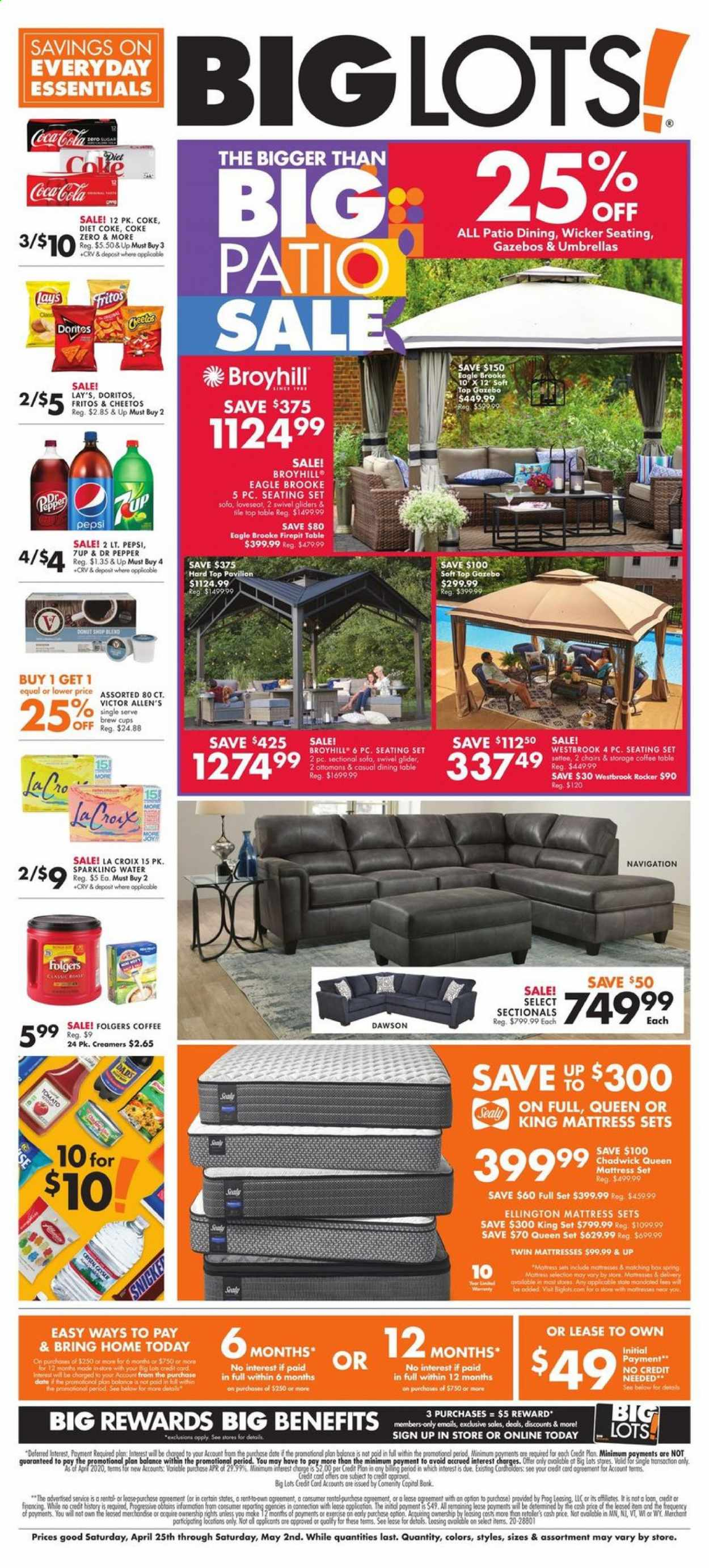 Big Lots Flyer  - 04.25.2020 - 05.02.2020. Page 1.
