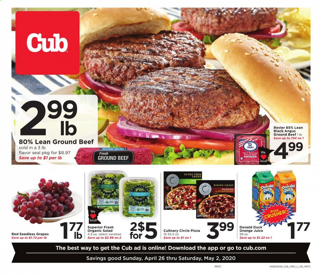 Cub Foods Flyer  - 04.26.2020 - 05.02.2020. Page 1.
