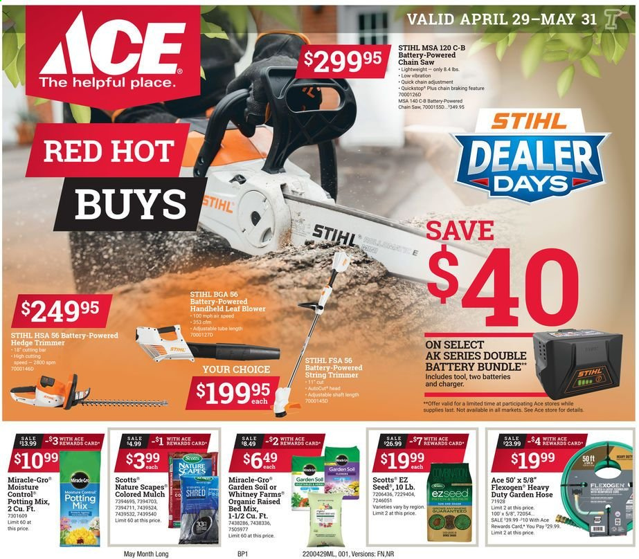 ACE Hardware Flyer  - 04.29.2020 - 05.31.2020. Page 1.
