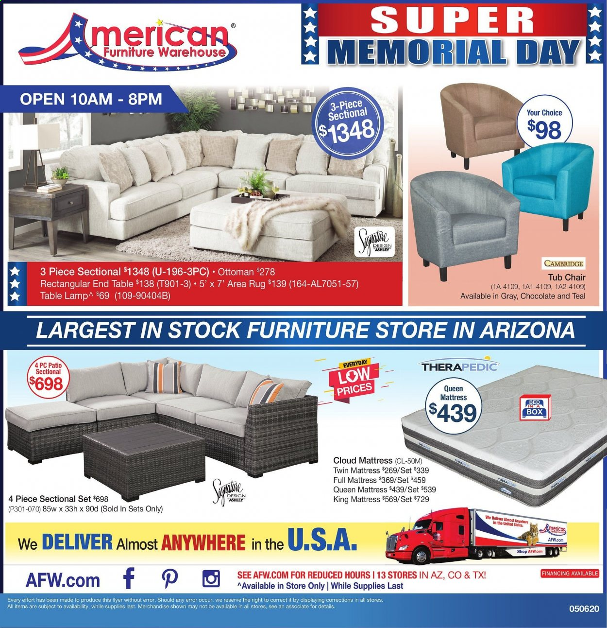American Furniture Warehouse ad  Weekly Ads
