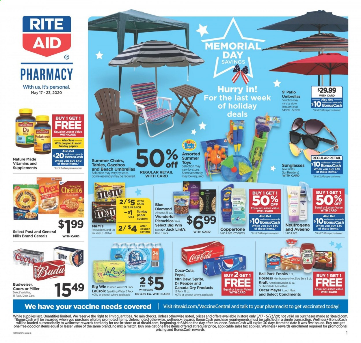 RITE AID Flyer  - 05.17.2020 - 05.23.2020. Page 1.