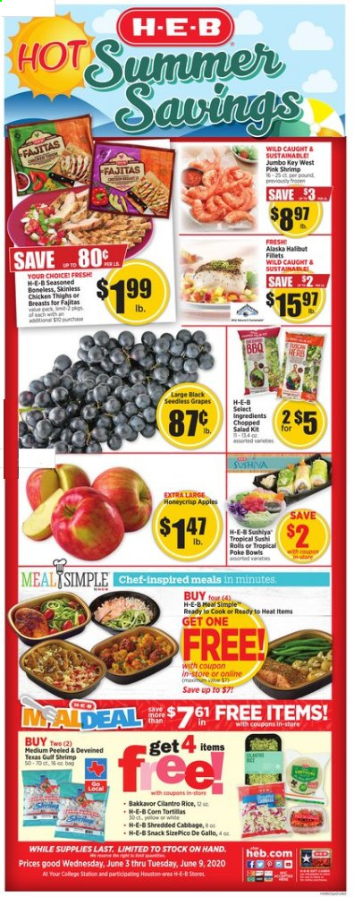H-E-B Flyer  - 06.03.2020 - 06.09.2020. Page 1.