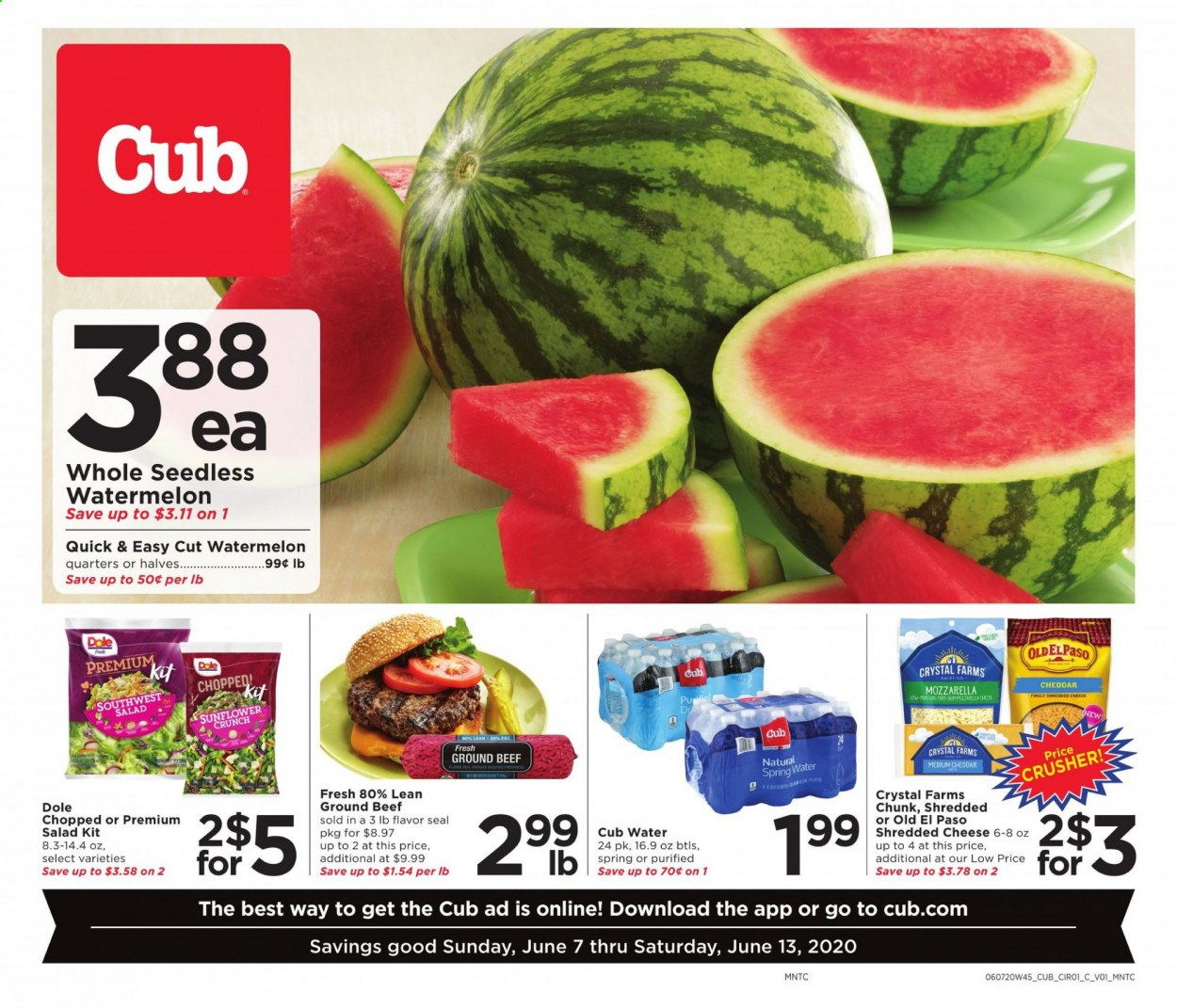 Cub Foods Flyer  - 06.07.2020 - 06.13.2020. Page 1.
