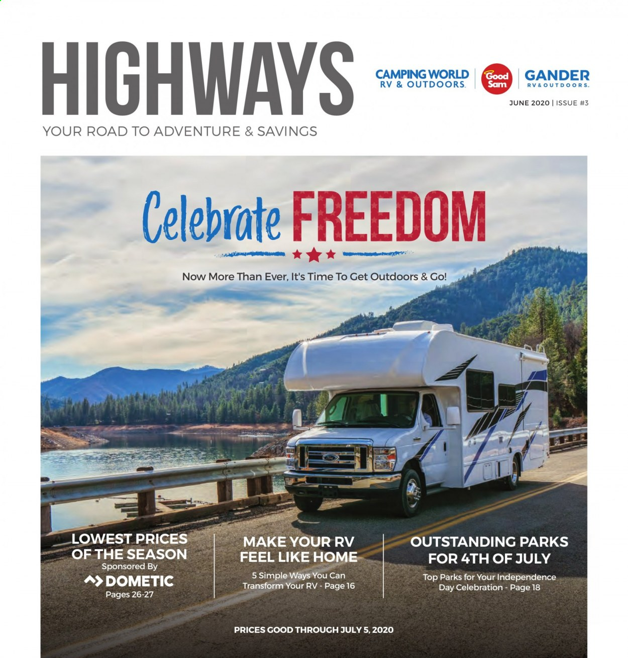Gander RV & Outdoors Flyer  - 06.01.2020 - 07.05.2020. Page 1.