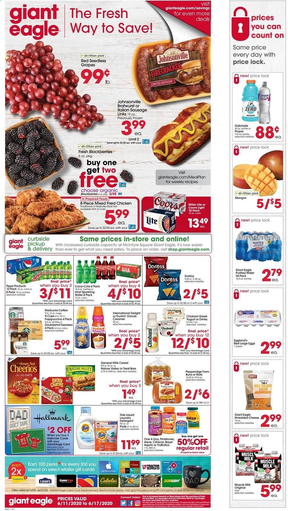 Giant Eagle Flyer  - 06.11.2020 - 06.17.2020. Page 1.