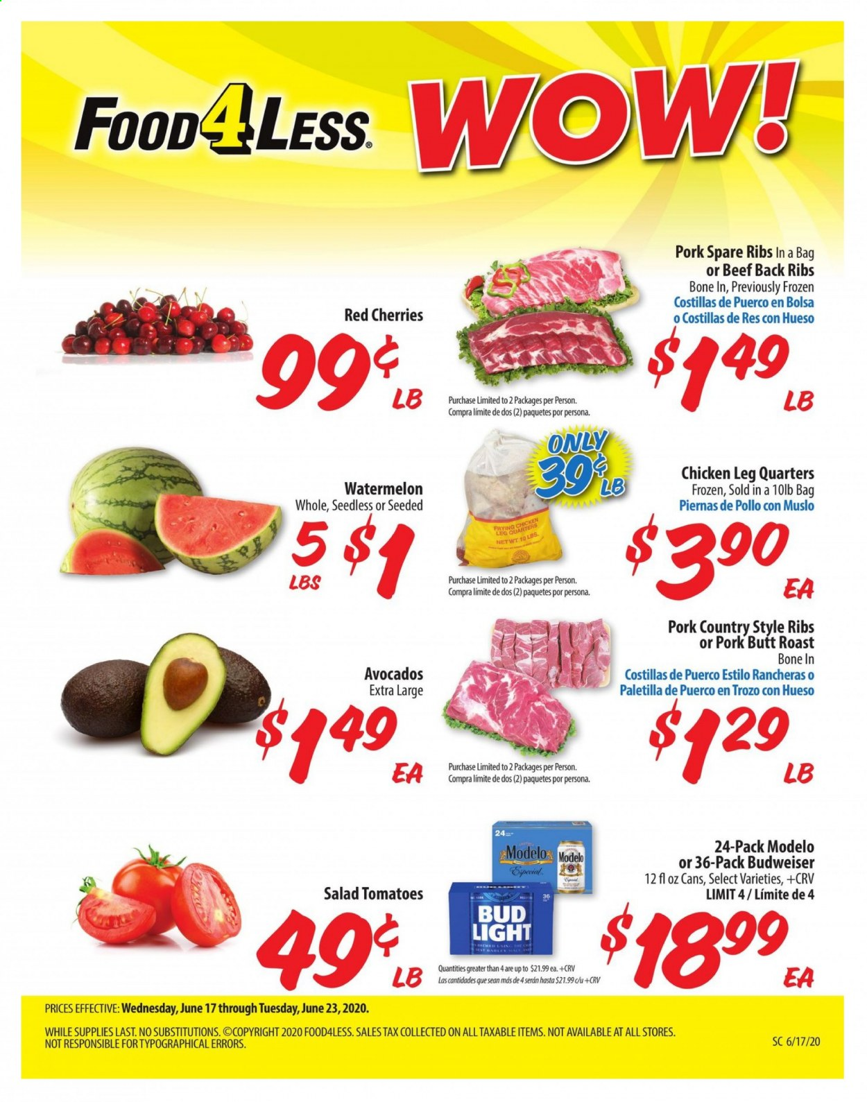Food 4 Less Flyer  - 06.17.2020 - 06.23.2020. Page 1.