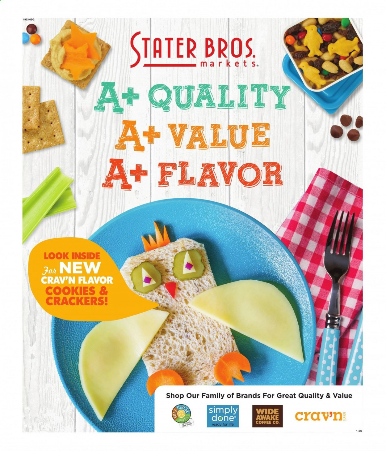 Stater Bros. Flyer - 07.29.2020 - 09.01.2020 - Sales products - coffee, cookies, crackers. Page 1.