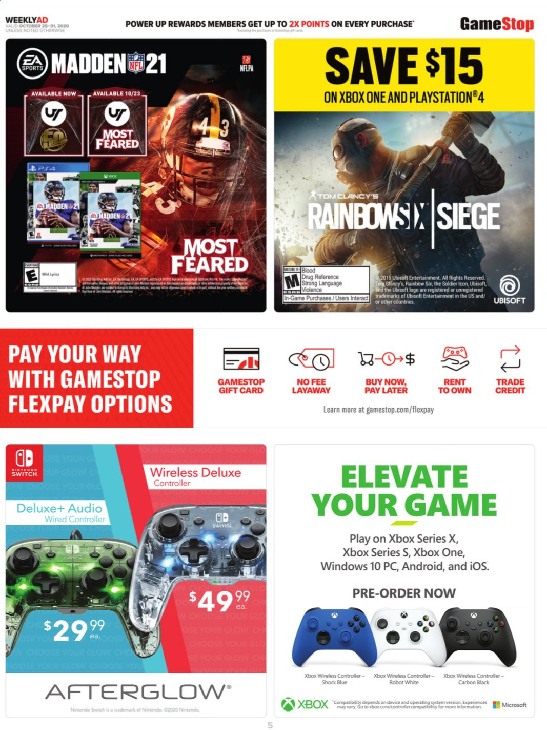 Gamestop Flyer 10 25 2020 10 31 2020 Page 5 Weekly Ads