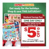 Family Dollar Flyer - 11.15.2020 - 11.21.2020.