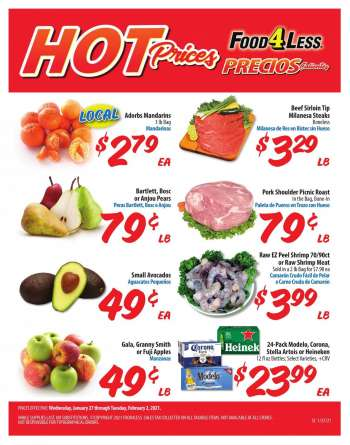 Food 4 Less Flyer - 01.27.2021 - 02.02.2021.