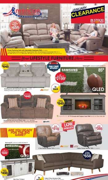 American Furniture Warehouse Flyer - 01.31.2021 - 02.06.2021.