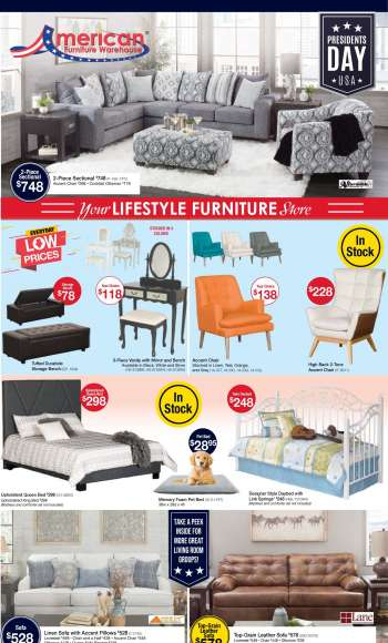 American Furniture Warehouse Flyer - 02.06.2021 - 02.13.2021.