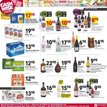 Cash Wise Liquor Only Flyer - 02.07.2021 - 02.13.2021.