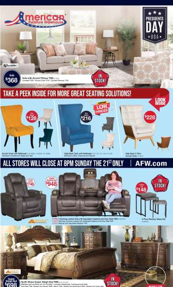 American Furniture Warehouse Flyer - 02.21.2021 - 02.27.2021.