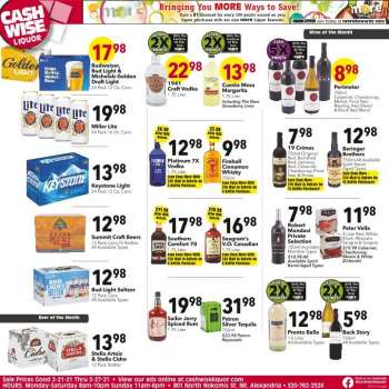 Cash Wise Liquor Only Flyer - 02.21.2021 - 02.27.2021.
