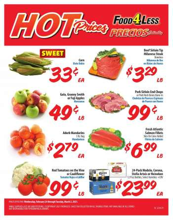 Food 4 Less Flyer - 02.24.2021 - 03.02.2021.