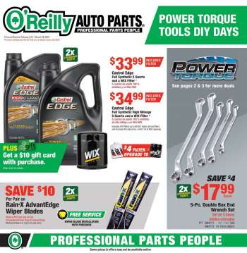 O'Reilly Auto Parts Flyer - 02.24.2021 - 03.30.2021.