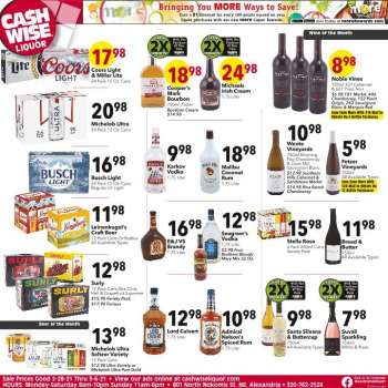 Cash Wise Liquor Only Flyer - 02.28.2021 - 03.06.2021.