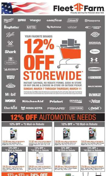 Fleet Farm Flyer - 03.07.2021 - 03.11.2021.