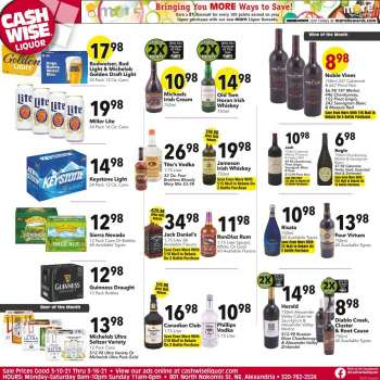 Cash Wise Liquor Only Flyer - 03.10.2021 - 03.16.2021.