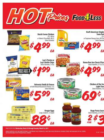 Food 4 Less Flyer - 03.10.2021 - 03.16.2021.
