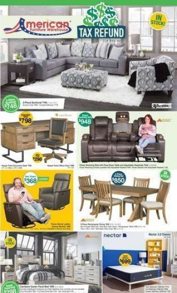 American Furniture Warehouse Flyer - 03.14.2021 - 03.20.2021.