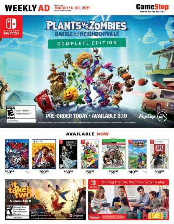 GameStop Flyer - 03.14.2021 - 03.20.2021.