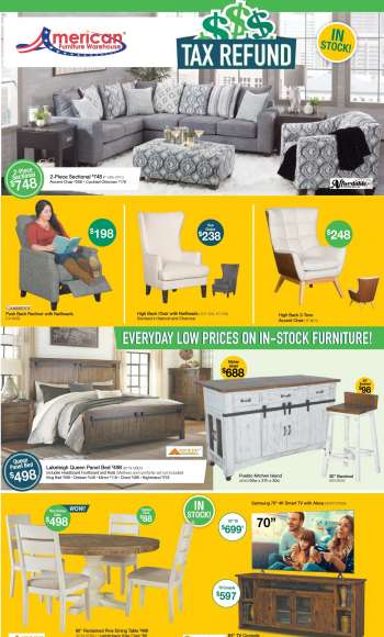 American Furniture Warehouse Flyer - 03.21.2021 - 03.27.2021.