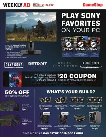 GameStop Flyer - 03.21.2021 - 03.27.2021.
