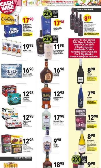 Cash Wise Liquor Only Flyer - 03.24.2021 - 03.30.2021.