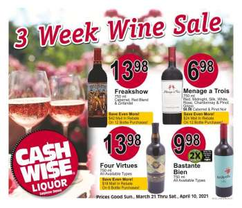 Cash Wise Liquor Only Ad