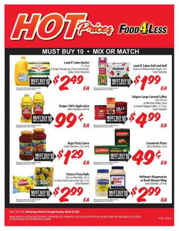 Food 4 Less Flyer - 03.24.2021 - 03.30.2021.