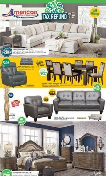 American Furniture Warehouse Flyer - 03.28.2021 - 04.03.2021.