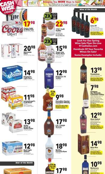 Cash Wise Liquor Only Flyer - 03.31.2021 - 04.06.2021.