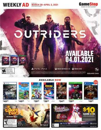 GameStop Flyer - 03.28.2021 - 04.03.2021.