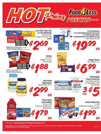 Food 4 Less Flyer - 03.31.2021 - 04.06.2021.