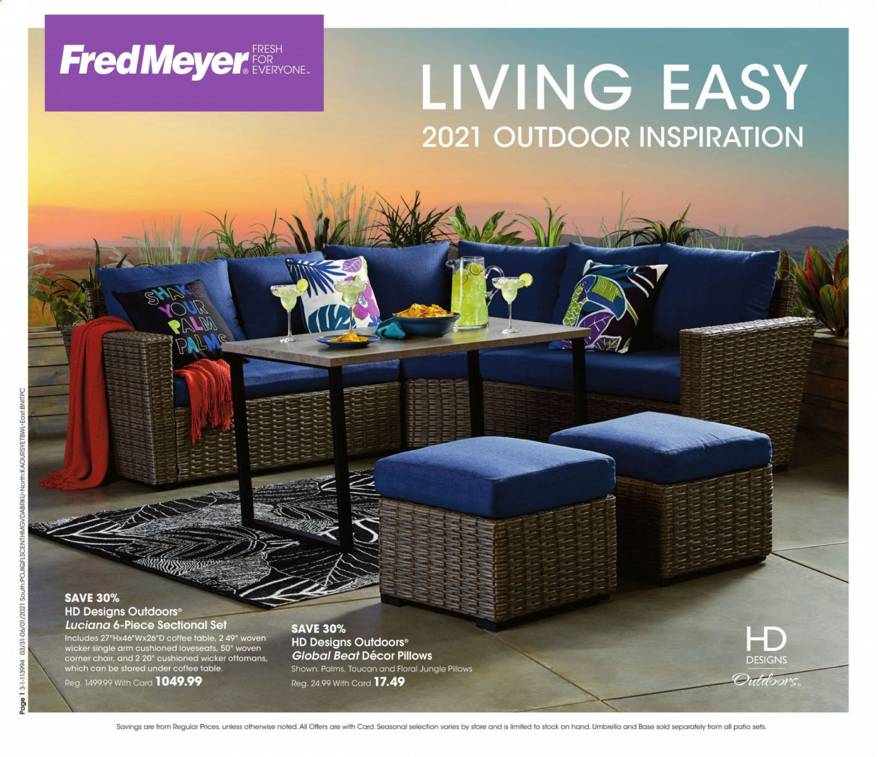Fred Meyer Flyer - 03.31.2021 - 06.01.2021 - Sales products - shakes, pillow, toucan. Page 1.