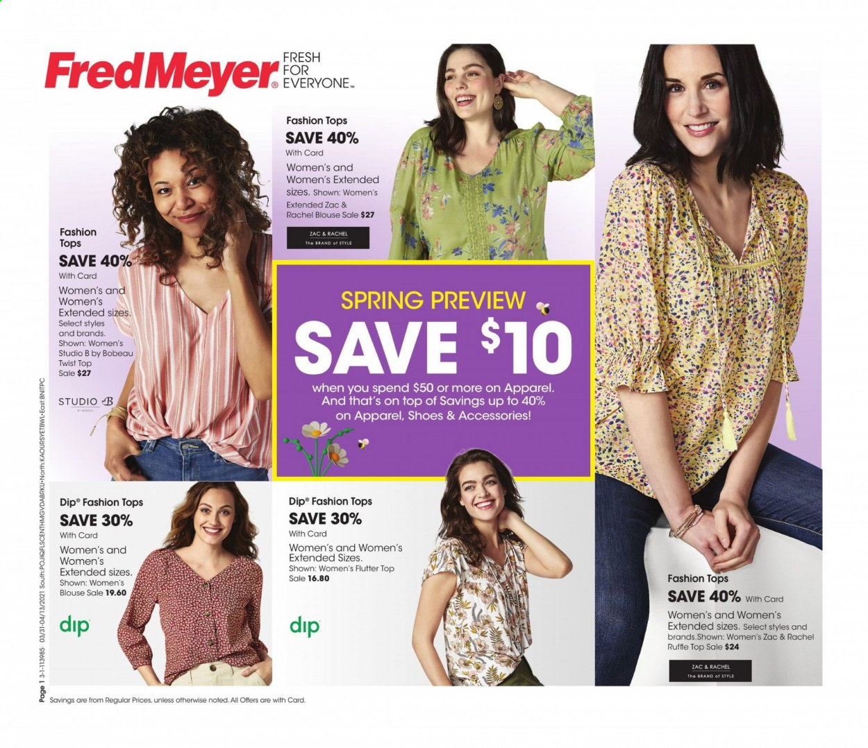 Fred Meyer Flyer - 03.31.2021 - 04.13.2021 - Sales products - dip. Page 1.