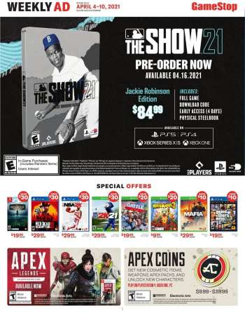 GameStop Flyer - 04.04.2021 - 04.10.2021.