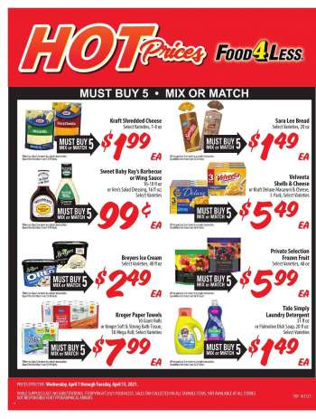 Food 4 Less Flyer - 04.07.2021 - 04.13.2021.