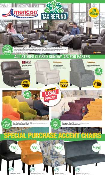 American Furniture Warehouse Flyer - 04.04.2021 - 04.10.2021.