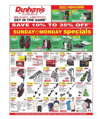 Dunham's Sports Flyer - 04.10.2021 - 04.15.2021.