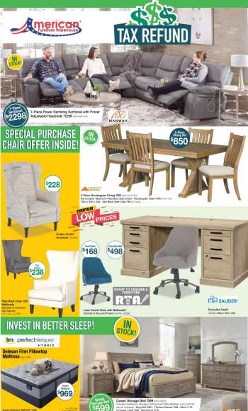 American Furniture Warehouse Flyer - 04.11.2021 - 04.17.2021.